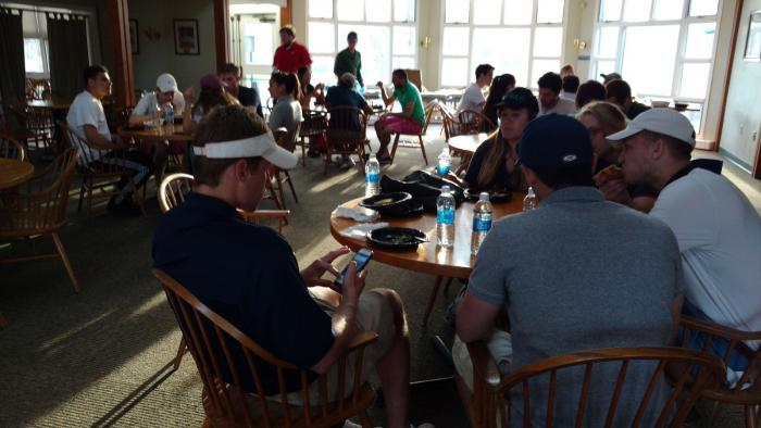 Warm weather and a catered pizza dinner greeted the IM golf participants on April 17, 2017. The top three colleges were 1) Davenport, 2) Trumbull, 3) Hopper (Calhoun)